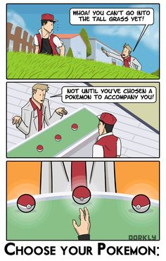Pick Your Starter!: A Choose-Your-Own-Pokemon-Adventure - Dorkly Comic
