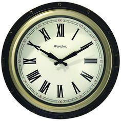 Westclox Porthole Wall Clock (pack of 1 Ea) Wall Clock Walmart, Tabletop Clocks, Picture Frames, Glass, Home Decor, Ea, Products, Portrait Frames, Decoration Home