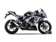Jual Sticker Modifikasi Kawasaki NINJA 250 Fi Hitam - Splash Ink Black