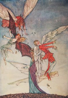ExRare FLORENCE ANDERSON FAIRY ART NOUVEAU 1915 WOW!AMAZING COLOR PLATES!SO RARE | eBay