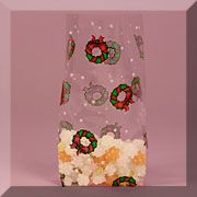 Printed Pattern Cello Bags - Holiday Wreath Check Out the Entire Christmas Category