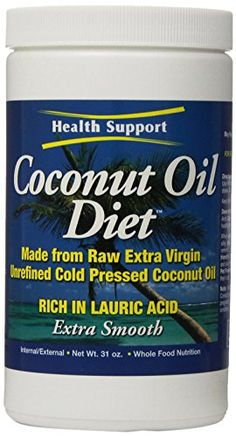 Health Support Raw Coconut Oil Raw, 31 Fluid Ounce >>> More details at the link of image at Dinner Ingredients board Coconut Oil Diet, Mct Oil, Cooking Ingredients, Cooking Oil, Lose Weight, Weight Loss, Whole Food Recipes