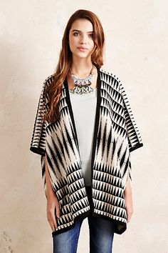Anthropologie EU Knitted Aztec Poncho