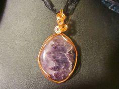 Amethyst pendant by MallardRocksandGems on Etsy, $30.00