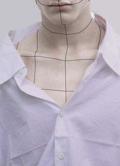 white shirt | graphic makeup | pale | milk tumblr | ultra violet