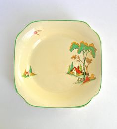 3 Clarice Cliff Staffordshire Pottery 1930's by LaVieDeLimbuni, $130.00