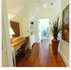 Stairs hall. Add window. Good space for play area/reading nook