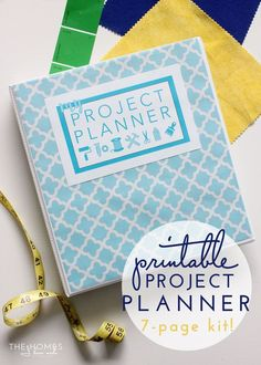 Printable Project Planner - a 7 page kit!