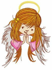 Praying angel 4 machine embroidery design. Machine embroidery design. www.embroideres.com