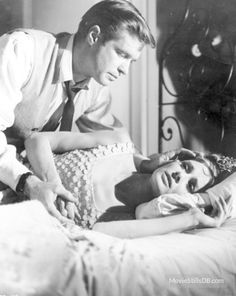 Audrey Hepburn and George Peppard photographed on the set of Breakfast at Tiffany's