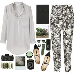 5 23 by mariimontero on Polyvore featuring polyvore fashion style Helmut Lang Theory Jimmy Choo Spitfire Aveda Kate Spade Lux-Art Silks Diptyque Lomography NARS Cosmetics Polaroid