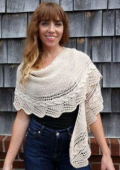 Cable Edged Shawl by Vanessa Ewing