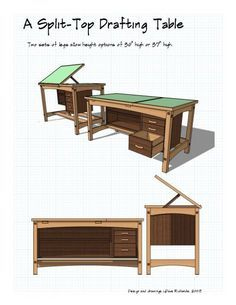 Pattern for a drafting table; might be useful - with modifications