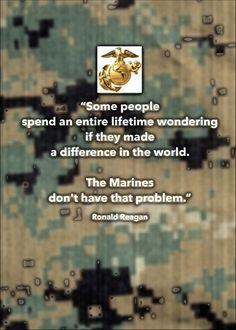 USMC military encouragement greeting card - Reagan quote on digi