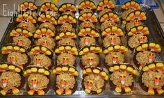 Rice Krispie Treat Turkeys via Eight By Five