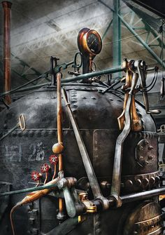 $37 Mike Savad - You can't have steampunk without the steam. This boiler is perfect for just that. Hand wrought iron plating, brass, steel, it just screams out for attention. #savad #plumber #boiler #steampunk