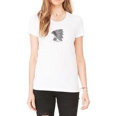 16e2a6ecce2c4 Rhinestones Lucky Headdress Scoop Neck T-Shirt. Made By Lucky Gambler