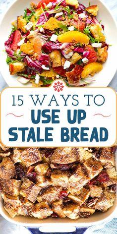 Recipe Using Stale Bread, Leftover Bread Recipes, Leftovers Recipes, Brunch Recipes, Breakfast Recipes, Oven Recipes, Dinner Recipes, Essen