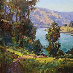 "The Riverbend, Bonneville, OR 22"" x 22"" Oil on Canvas"