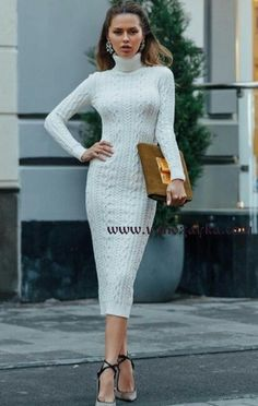 Super knitting dress girl robes Ideas – The Best Ideas Clothing Patterns, Dress Patterns, Casual Dresses, Girls Dresses, Couture Collection, Classy Outfits, Types Of Dresses, Pull, Knit Dress