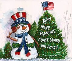 Let's not forget our military this Christmas Season...keeping us safe and free is the most precious gift of all...Thank You!