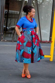 Fashion ideas for womens african fashion 046 Shweshwe Dresses, African Maxi Dresses, African Fashion Ankara, Latest African Fashion Dresses, African Dresses For Women, African Print Fashion, Africa Fashion, African Attire, Ankara Dress