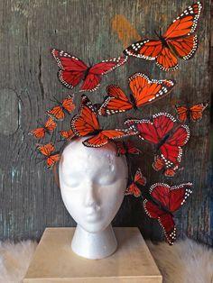 Monarch Butterfly Fascinator Headpiece, Headdress, Headband, Derby, Royal Ascot, Hat by DelfinaDesigns on Etsy https://www.etsy.com/listing/248491873/monarch-butterfly-fascinator-headpiece
