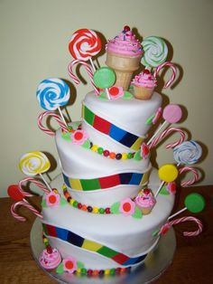 This Would Be A Cute Cake For Girls Birthday Party If They Are Between 4