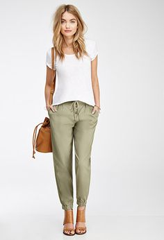 Buttoned Drawstring Joggers | Forever 21 - 2000136500