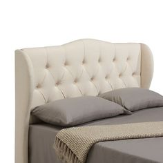 """Features:  -Topical hardwood solids and ply wood frames.  -Upholstery grade foam.  Finish: -Cream. Dimensions:  Overall Height - Top to Bottom: -53"""".  Overall Depth - Front to Back: -3.5"""".  Overall Pr"""
