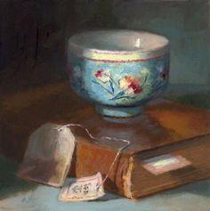 """The Blue Cup"" - Original Fine Art for Sale - © Linda Jacobus"
