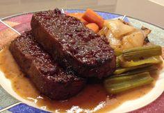 "Seitan ""Brisket"" with Gravy and Roasted Vegetables | 24 Kick-Ass Ways To Cook Homemade Seitan"