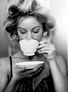 think I'll drink a cup of tea the next time my hair is in curlers...