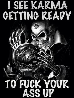 Fuck you skull memes Karma Quotes, Me Quotes, Funny Quotes, Sassy Quotes, Great Quotes, Inspirational Quotes, Motivational, Linking Park, Image Pinterest