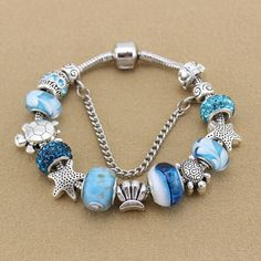 Beaded Sea Life Bracelet