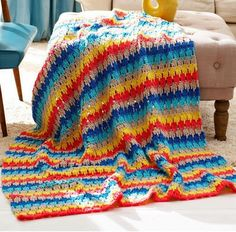 ergahandmade: Crochet Blanket + Diagram + Free Pattern Step By Step