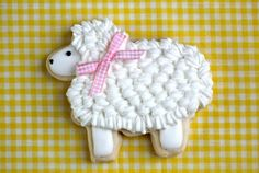 Little Lamb sugar cookies!  Cute for Easter or a baby shower!
