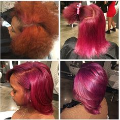 STYLIST FEATURE| This color correction #transformation done by #AtlantaStylist @_joilisab is AMAZING Her hair has been silked to perfection Love this berry color #VoiceOfHair ========================= Go to VoiceOfHair.com ========================= Find hairstyles and hair tips! =========================