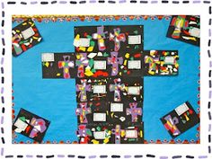 Faith Filled Freebies: Lenten Cross Project for Kids Easter Activities, Holiday Activities, Easter Art, Easter Crafts, Projects For Kids, Art Projects, Teaching Religion, Cross Art, Lenten