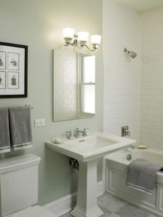 White Subway Tile Bathroom Design, Pictures, Remodel, Decor and Ideas - page 7
