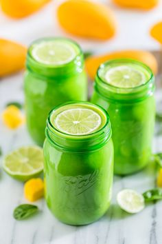 Mango Lime Green Smoothie | Get Inspired Everyday!