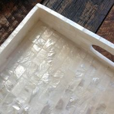 Mother of pearl tray from Dos Ombre.