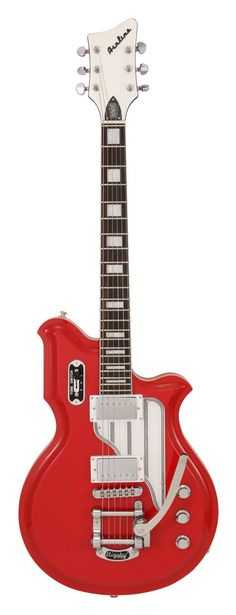 Eastwood Airline Map Red Electric Guitar