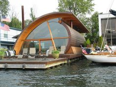 round space floating on water ... its the best of all worlds