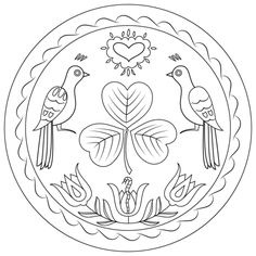 Pennsylvania Hex Sign coloring page from Pennsylvania Dutch Art category. Select from 25655 printable crafts of cartoons, nature, animals, Bible and many more. Rose Coloring Pages, Bird Coloring Pages, Mandala Coloring Pages, Free Printable Coloring Pages, Free Coloring, Colouring, Hand Embroidery Patterns Free, Pennsylvania Dutch, Printable Crafts