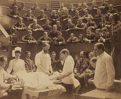 Operating theater at Boston City Hospital, ca.1890