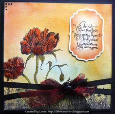 Remembrance card, made using Indigo Blu stamps