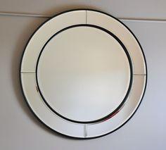 """HAMPTON""-LARGE ROUND WALL MIRROR-bevel edge-deco-vintage-contemporary-circle"