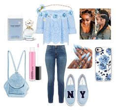 """""""light blue honey♥"""" by babymommaswag ❤ liked on Polyvore featuring Current/Elliott, Joshua's, Casetify, Marc Jacobs and MANU Atelier"""
