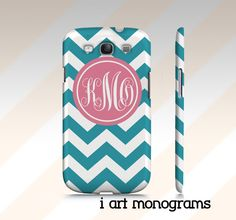 Monogrammed Samsung Galaxy S3 Case by iArtMonograms on Etsy, $35.00
